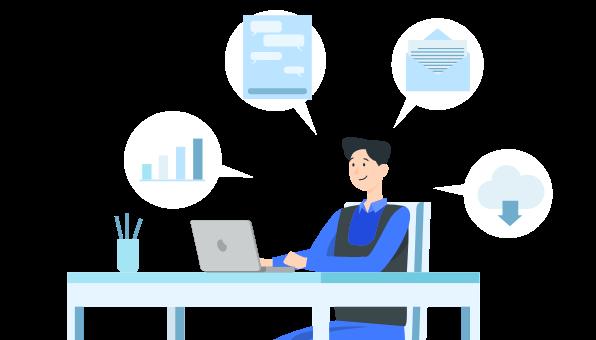 情報伝達コストの削減&業務効率化